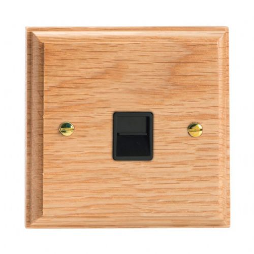 Varilight XKTSOB Kilnwood Oak 1 Gang Telephone Slave (Extension) Socket